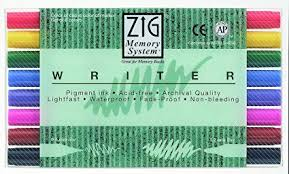 zig kuretake writer markers set of 8