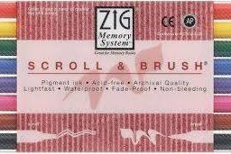 zig scroll brush calligraphy marker set of 8