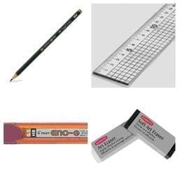 Pencil Ruler Eraser Calligraphy Supplies