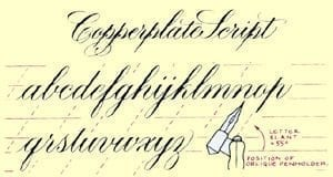 copperplate sample