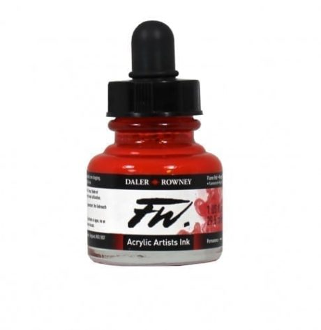 Daler Rowney FW Artist Flame Red