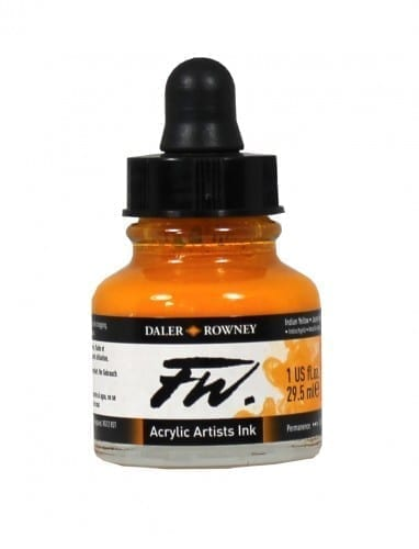 Daler Rowney FW Artist Indian Yellow