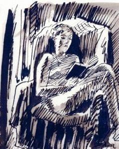 Natasha Iron Gall Drawing