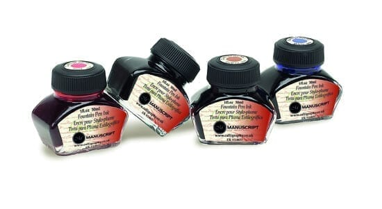 manuscript fountain pen ink set