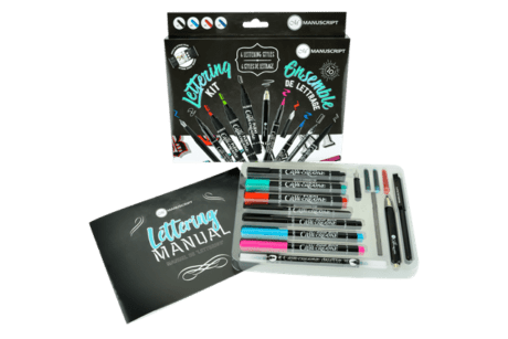 Manuscript Lettering Kit Inside
