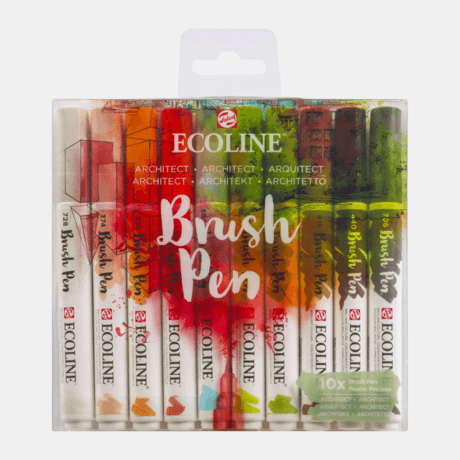 Ecoline Brush Pen Set 10 Architect