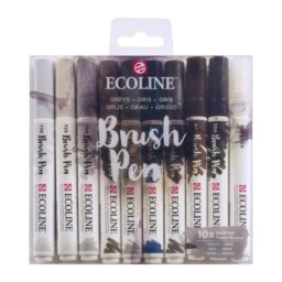 Ecoline Brush Pen Set of 10 - Greys
