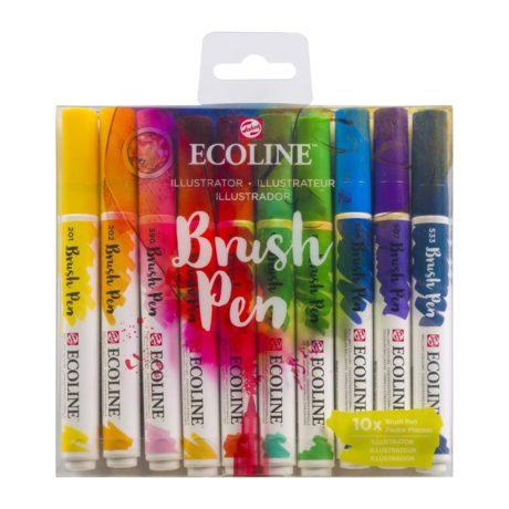 Ecoline Brush Pen Set of 10 - Illustrator