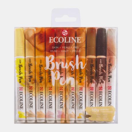 Ecoline Brush Pen Set of 10 - Skin