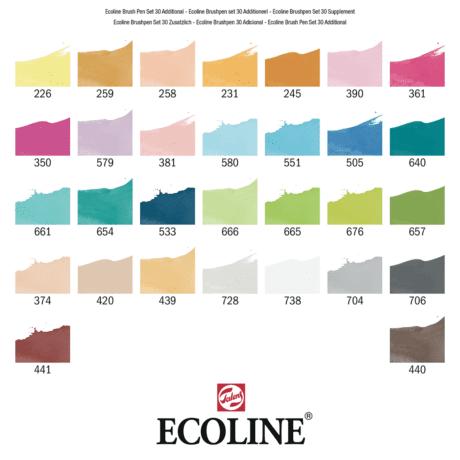 Ecoline Brush Pen Set of 30 - Additional Sample