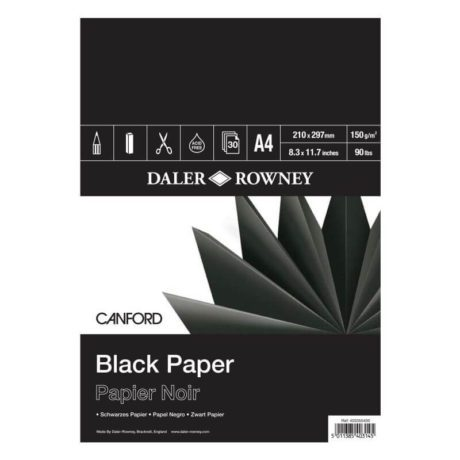 Daler Rowney Canford A4 Black Pad