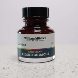 William Mitchell Carmine Gouache