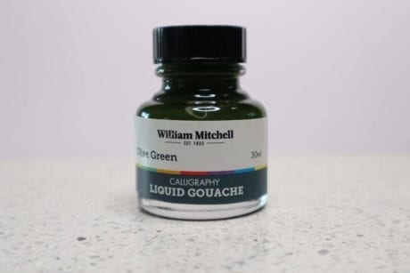 William Mitchell Olive Green Gouache