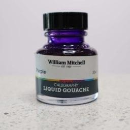 William Mitchell Purple Gouache