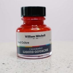William Mitchell Red Ochre Gouache
