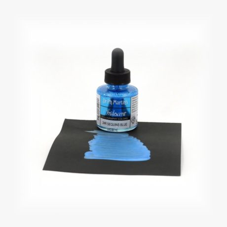 dr ph martins iridescent calligraphy Sequins Blue Sample