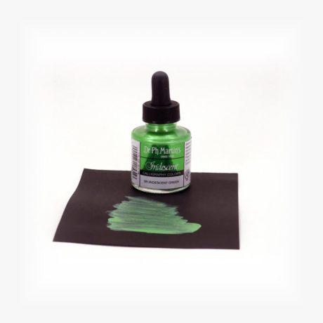 dr ph martins iridescent calligraphy green sample