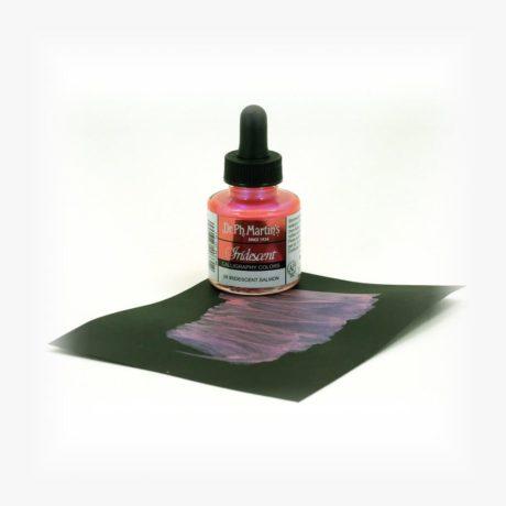 dr ph martins iridescent calligraphy salmon sample