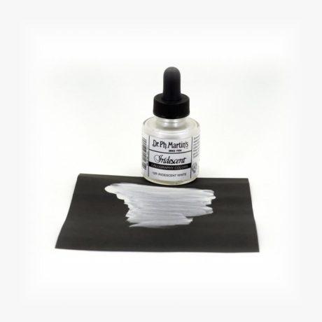 dr ph martins iridescent calligraphy white sample